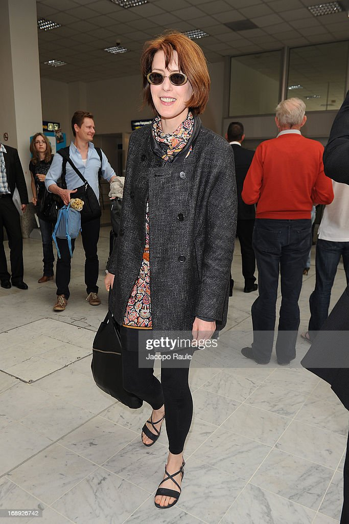 Gina McKee is seen arriving at Nice airport during The 66th Annual Cannes Film Festival on May 17, 2013 in Nice, France.