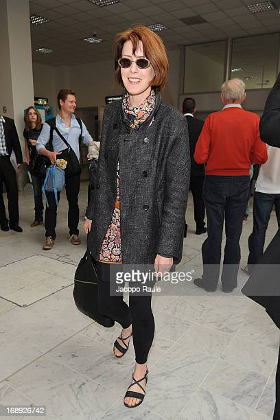 Gina McKee is seen arriving at Nice airport during The 66th Annual Cannes Film Festival on May 17 2013 in Nice France