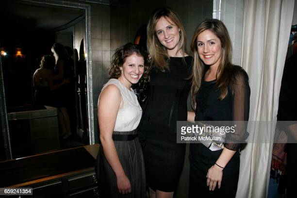Gina Minerbi Leah Shisha and Catherine Harrison attend VAN CLEEF ARPELS hosts cocktail reception honoring the SCHOOL of AMERICAN BALLET at Van Cleef...