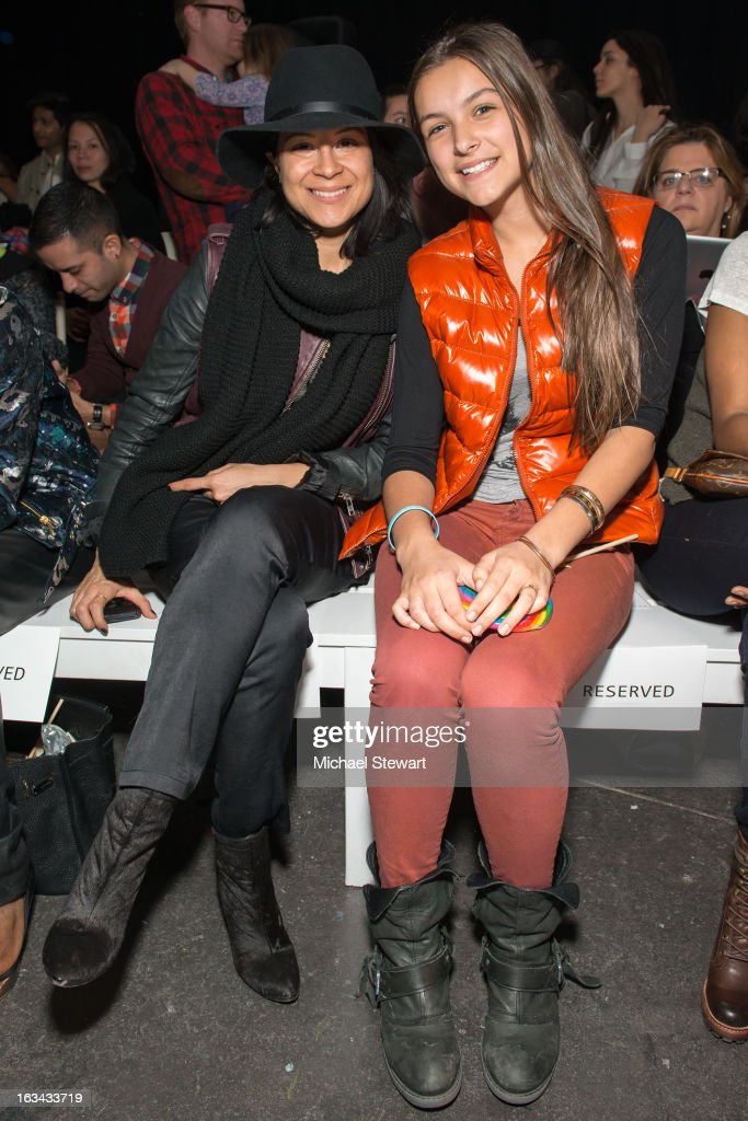 Gina Rizzo (L) and Bellamny Novogratz attend the Diesel Kids fashion show during 2013 petitePARADE Kids Fashion Week at Industria Superstudio on March 9, 2013 in New York City.