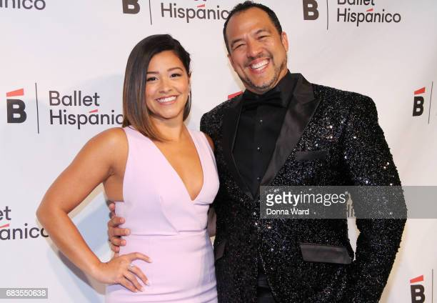 Gina Rodriguez and Eduardo Vilaro attend the Ballet Hispanico 2017 Carnaval Gala at The Plaza Hotel on May 15 2017 in New York City