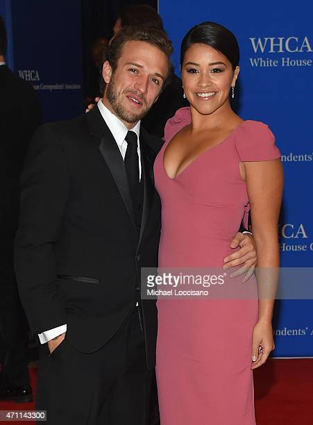 Gina Rodriguez and Henri Esteve attend the 101st Annual White House Correspondents' Association Dinner at the Washington Hilton on April 25 2015 in...