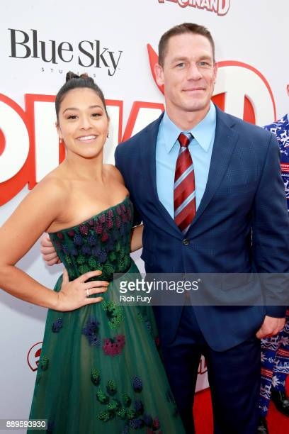 Gina Rodriguez and John Cena attend the screening of 20th Century Fox's 'Ferdinand' at Zanuck Theater at 20th Century Fox Lot on December 10 2017 in...