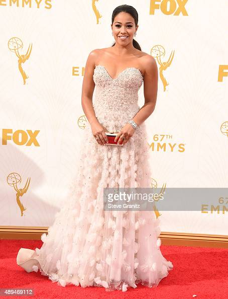 Gina Rodriguez arrives at the 67th Annual Primetime Emmy Awards at Microsoft Theater on September 20 2015 in Los Angeles California