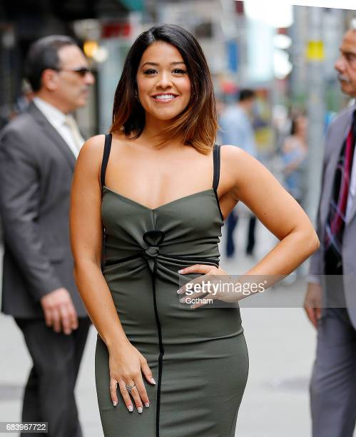 Gina Rodriguez at Stephen Colbert show on May 16 2017 in New York City