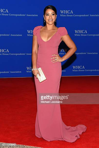 Gina Rodriguez attends the 101st Annual White House Correspondents' Association Dinner at the Washington Hilton on April 25 2015 in Washington DC