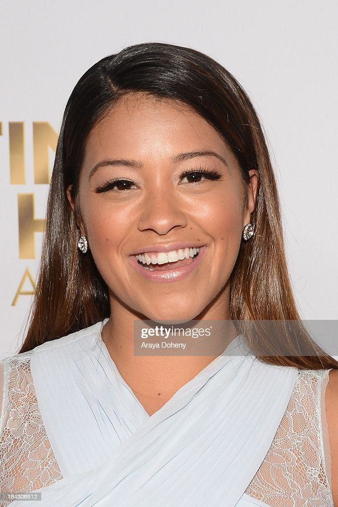 <a gi-track='captionPersonalityLinkClicked' href=/galleries/search?phrase=Gina+Rodriguez+-+Actress+-+Born+1985&family=editorial&specificpeople=11423747 ng-click='$event.stopPropagation()'>Gina Rodriguez</a> attends the 2013 Latinos de Hoy Awards at Los Angeles Times' Chandler Auditorium on October 12, 2013 in Los Angeles, California.