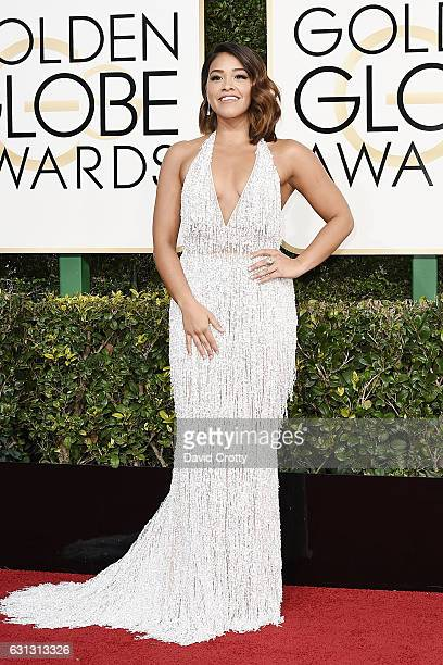 Gina Rodriguez attends the 74th Annual Golden Globe Awards Arrivals at The Beverly Hilton Hotel on January 8 2017 in Beverly Hills California