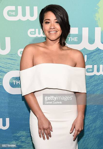 Gina Rodriguez of the series 'Jane the Virgin' attends The CW Network's 2016 New York Upfront at The London Hotel on May 19 2016 in New York City