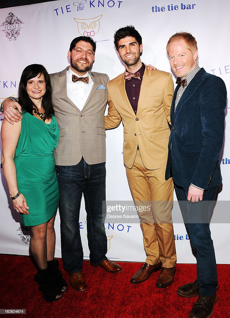 Gina Shugar, Greg Shugar, Justin Mikita and Jesse Tyler Ferguson attend Tie The Knot NYC at Avenue on February 27, 2013 in New York City.