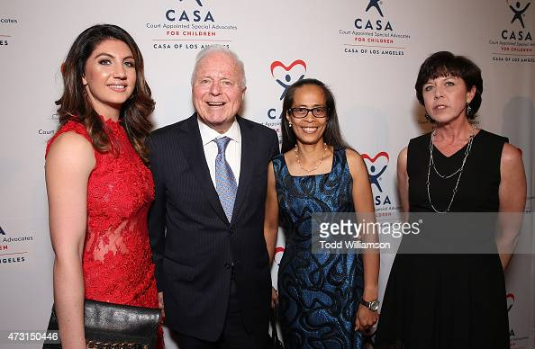 Gina Tahilramai Former Los Angles Mayor Richard J Riordan Emma Pham and Julie Westby attends the CASA Evening To Foster Dreams Gala at The Beverly...