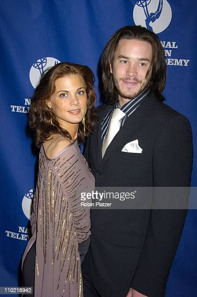 Gina Tognoni and Tom Pelphrey of Guiding Light during 32nd Annual Academy of Television Arts Sciences Daytime Creative Arts Emmy Awards Arrivals at...