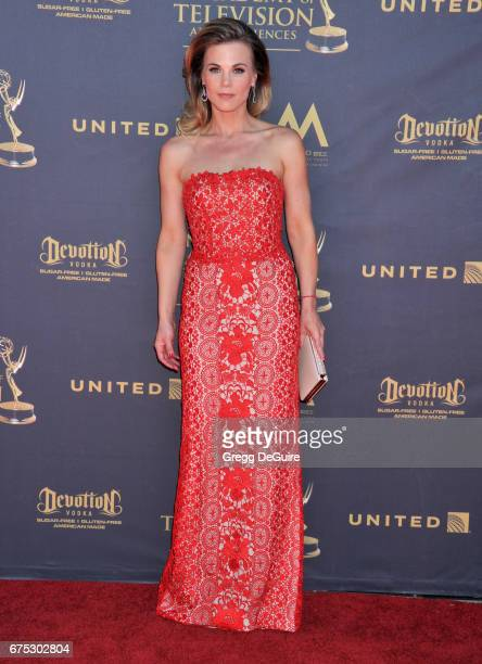 Gina Tognoni arrives at the 44th Annual Daytime Emmy Awards at Pasadena Civic Auditorium on April 30 2017 in Pasadena California