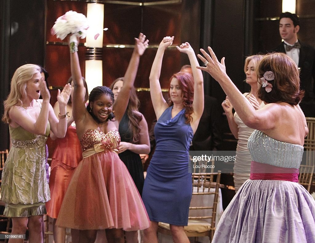 LIVE - Gina Tognoni (Kelly), Shenell Edmonds (Destiny), Melissa Archer (Natalie), Kassie DePaiva (Blair) and Hillary B. Smith (Nora) in a scene that begins airing the week of June 7, 2010 on ABC Daytime's 'One Life to Live.' 'One Life to Live' airs Monday-Friday (2:00 p.m. - 3:00 p.m., ET) on the ABC Television Network. OLTL10 (Photo by Lou Rocco/ABC via Getty Images) GINA