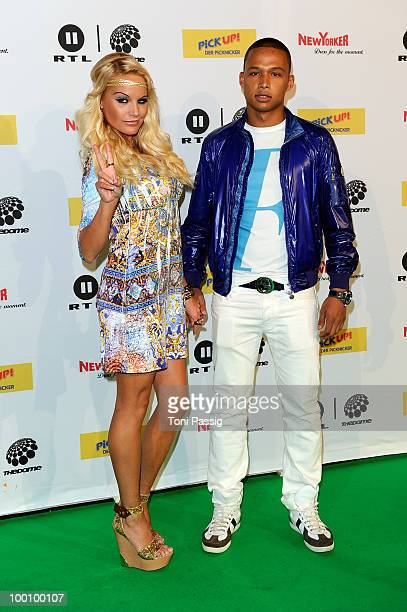 GinaLisa Lohfink and boyfriend Romulo Kuranyi arrive at 'The Dome 54' at Schleyerhalle on May 20 2010 in Stuttgart Germany