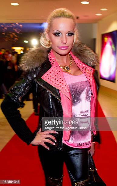 GinaLisa Lohfink attends aftershow party to the german premiere of his movie 'All Things Fall Apart' at Hotel Berlin on March 24 2013 in Berlin...