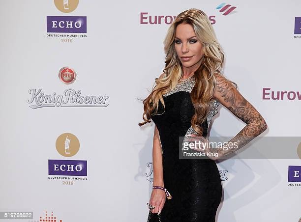 GinaLisa Lohfink attends the Echo Award 2016 on April 07 2016 in Berlin Germany