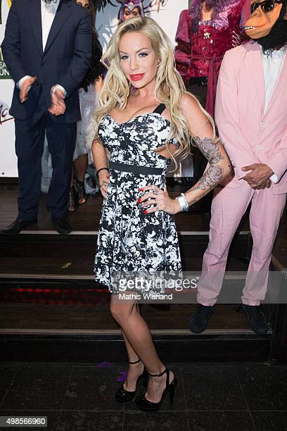 GinaLisa Lohfink attends the MC Pruente Christmas Party at the Delta Music Club on November 23 2015 in Essen Germany