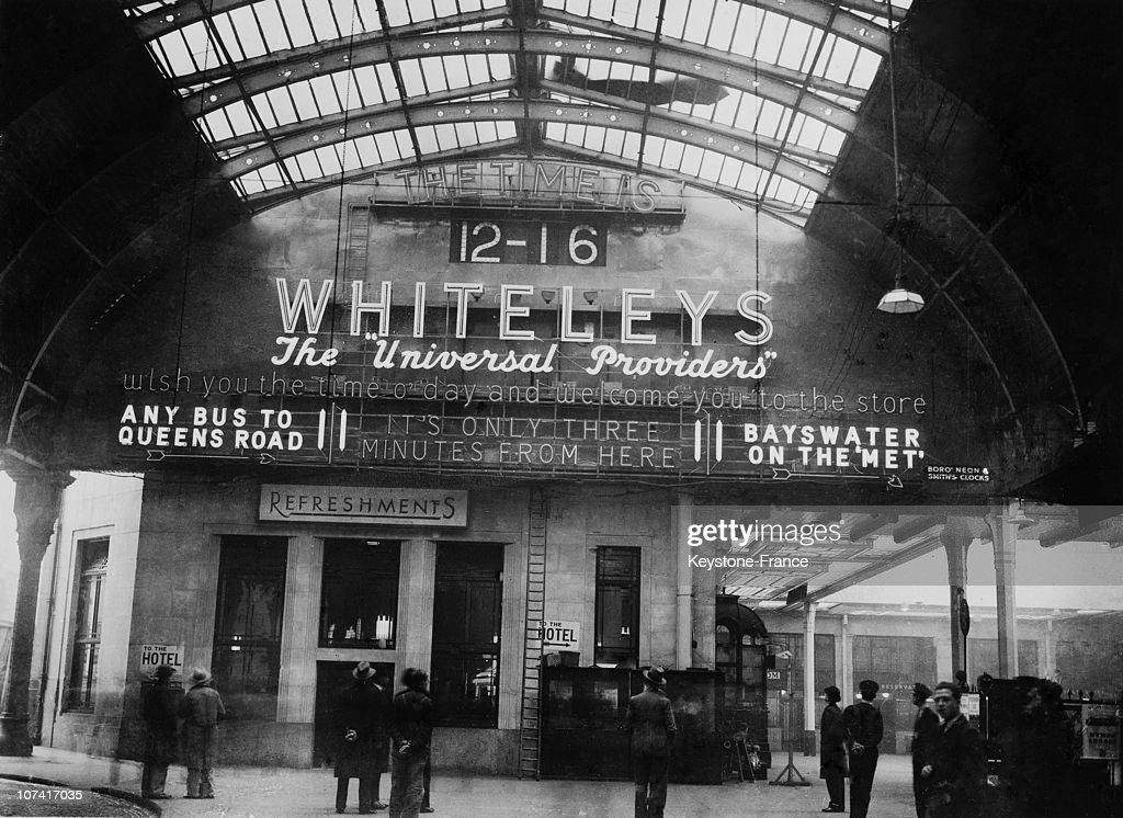 Ginauguration Of A New Station Clock At Paddington Station In London On November 8Th 1933