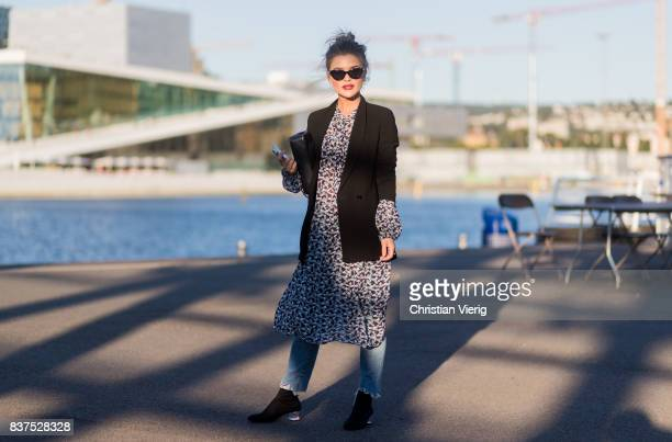 Gine Margrethe outside Tom Wood on August 22 2017 in Oslo Norway