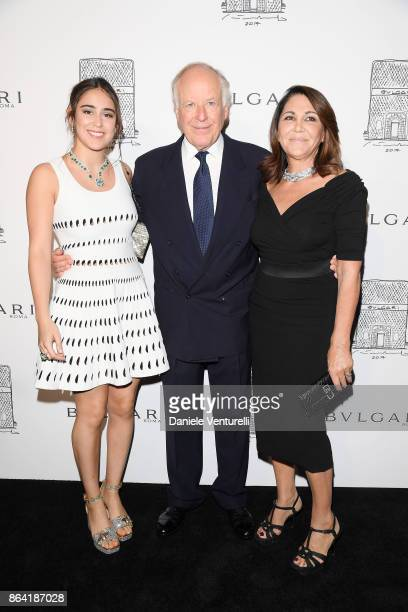 Ginevra Bulgari Beatrice Bulgari and Nicola Bulgari attend a party to celebrate the Bvlgari Flagship Store Reopening on October 20 2017 in New York...