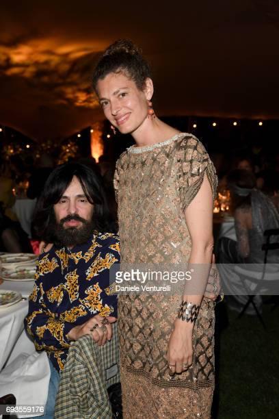 Ginevra Elkann and Alessandro Michele attend McKim Medal Gala at Villa Aurelia on June 7 2017 in Rome Italy