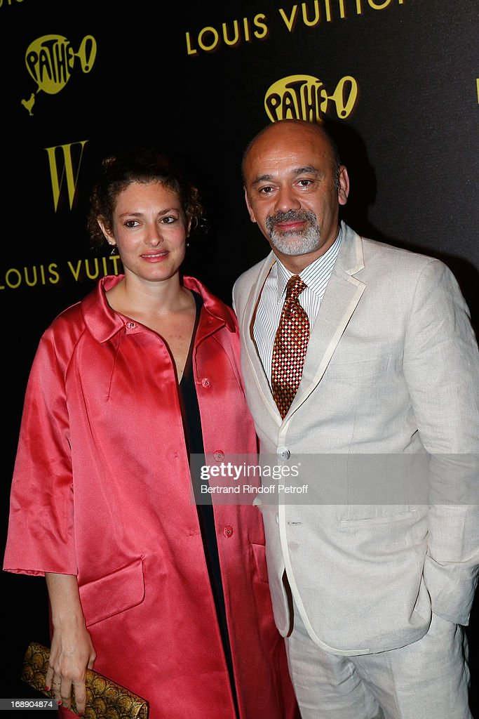 <a gi-track='captionPersonalityLinkClicked' href=/galleries/search?phrase=Ginevra+Elkann&family=editorial&specificpeople=4494517 ng-click='$event.stopPropagation()'>Ginevra Elkann</a> and <a gi-track='captionPersonalityLinkClicked' href=/galleries/search?phrase=Christian+Louboutin+-+Fashion+Designer&family=editorial&specificpeople=4644509 ng-click='$event.stopPropagation()'>Christian Louboutin</a> attend the photocall of The Bling Ring Party Hosted By Louis Vuitton during the 66th Annual Cannes Film Festival at Club d'Albane/Marriott on May 16, 2013 in Cannes, France.