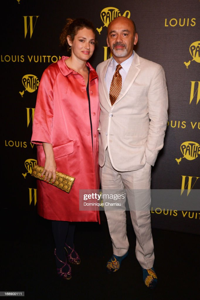Ginevra Elkann and designer Christian Louboutin attend The Bling Ring Party hosted by Louis Vuitton during the 66th Annual Cannes Film Festival at Club d'Albane/JW Marriott on May 16, 2013 in Cannes, France.