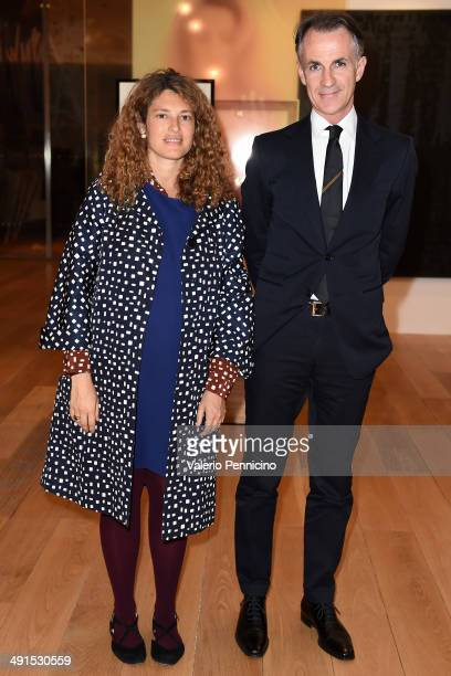 Ginevra Elkann and Gucci's Director of Corporate Communications Niccolo Moschini attend at the Mario Testino Exhibition Opening at the Pinacoteca...