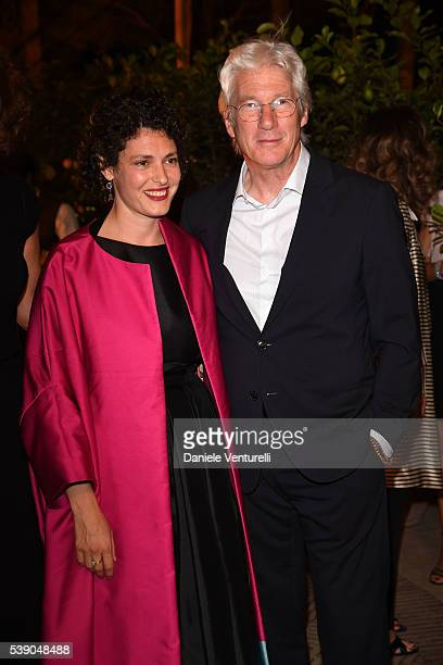 Ginevra Elkann and Richard Gere attends McKim Medal Gala In Rome on June 9 2016 in Rome Italy