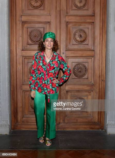 Ginevra Elkann arrives at the Gucci Cruise 2018 fashion show at Palazzo Pitti on May 29 2017 in Florence Italy