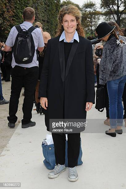 Ginevra Elkann arrives at Valentino Fashion Show during Paris Fashion Week Womenswear SS14 Day 8 on October 1 2013 in Paris France
