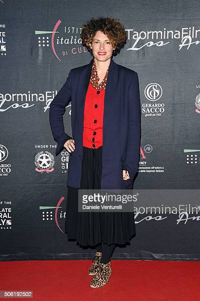 Ginevra Elkann attends Cocktail Party Celebrating 1th Taormina Film Fest Los Angeles 2016 at Italian Cultural Institute Of Los Angeles on January 21...