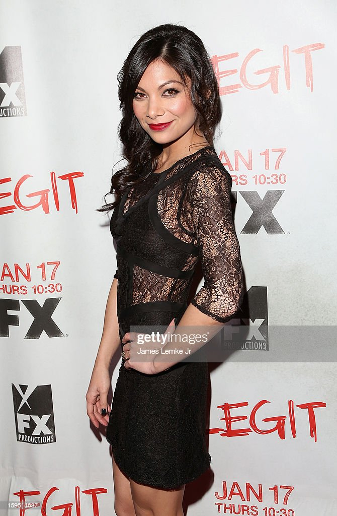 Ginger Gonzaga attends the FX's New Comedy Series 'Legit' Premiere Screening held at the Fox Studio Lot on January 14, 2013 in Century City, California.