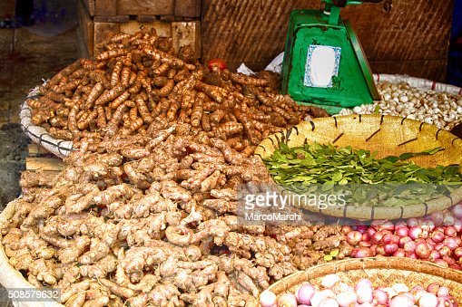 Ginger on Market : Stock Photo