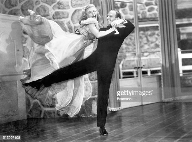 Ginger Rogers and Fred Astaire in a scene from Carefree an RKO Radio Picture