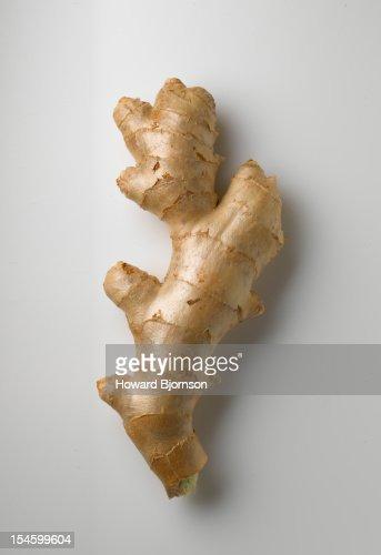Ginger root on white