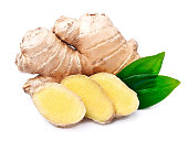 Ginger root in isolated white background