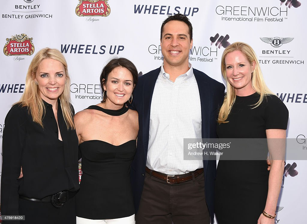 Ginger Stickel, Wendy Stapleton Reyes, Mark Teixeira and Colleen deVeer attend Greenwich Film Festival 2015 - Sports Guys On Sports Movies Premiere & After Party at Cole Auditorium at Greenwich Library on June 4, 2015 in Greenwich, Connecticut.