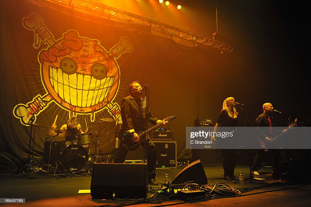 Ginger Wildheart performs on stage at Hammersmith Apollo on March 7, 2013 in London, England.