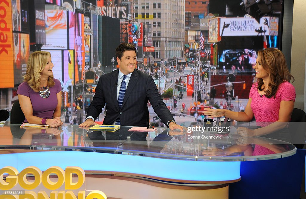 AMERICA - Ginger Zee co-hosts 'Good Morning America,' 8/22/13, airing on the ABC Television Network. (Photo by Donna Svennevik/ABC via Getty Images) LARA