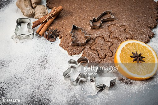 Gingerbread chocolate dough : Stock Photo
