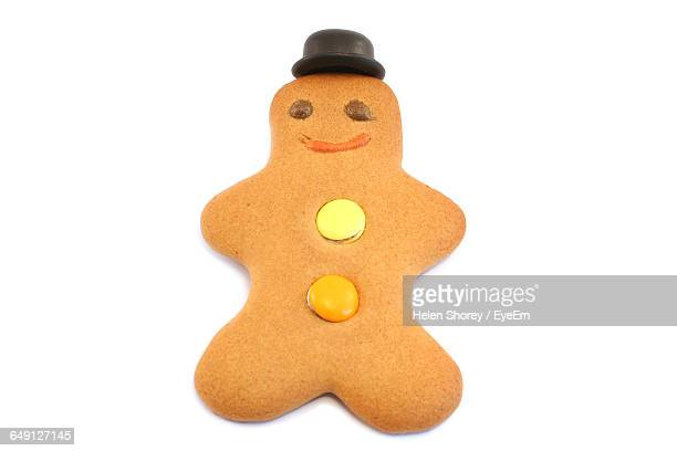 Gingerbread Cookie Against White Background