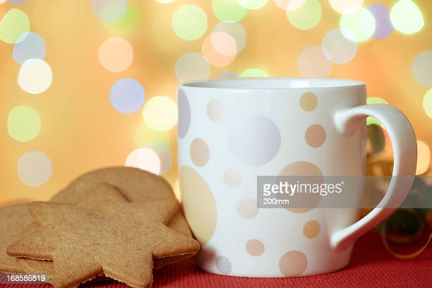 Gingerbread Cookies,  Cup of Coffee at Christmas Time