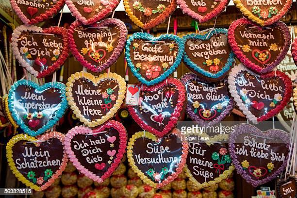 Gingerbread hearts at Erlanger Bergkirchweih fair
