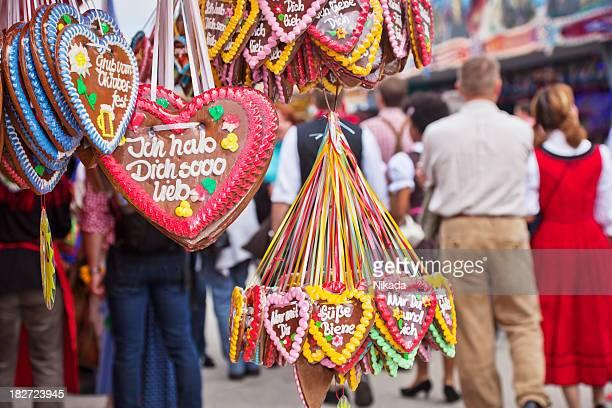Gingerbread hearts in Munich