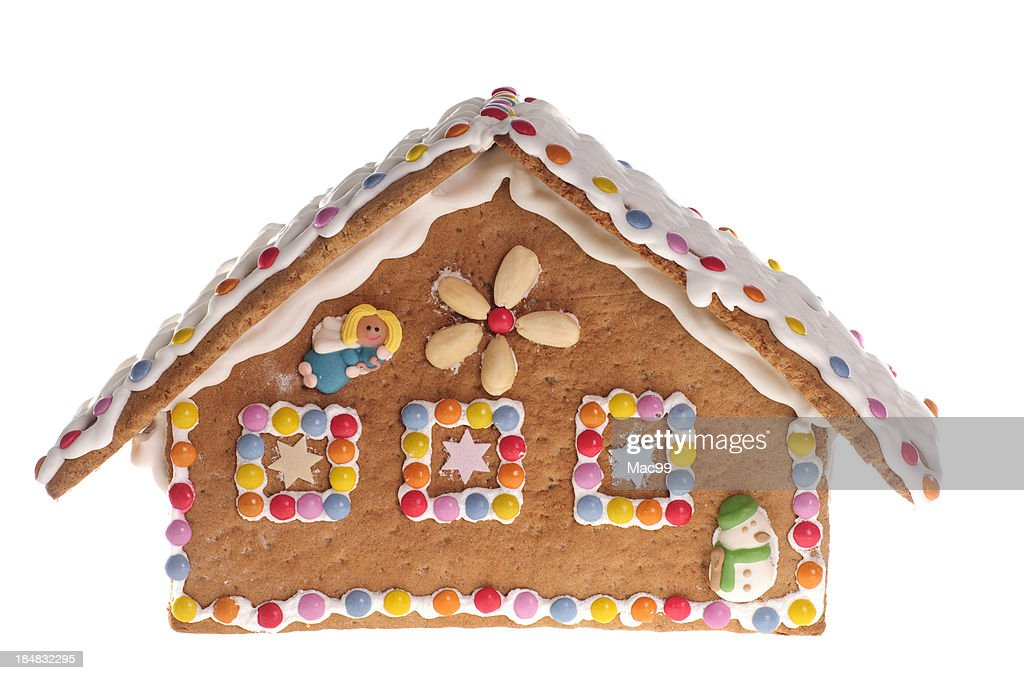 Gingerbread house with colorful candy
