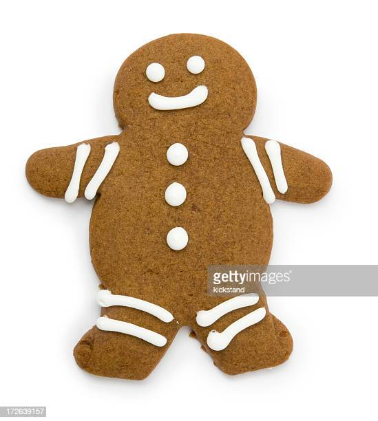 Gingerbread man with clipping path
