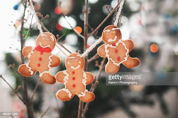 Gingerbread men cookies for Christmas