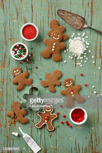 Gingerbread Men Cookies : Stock Photo